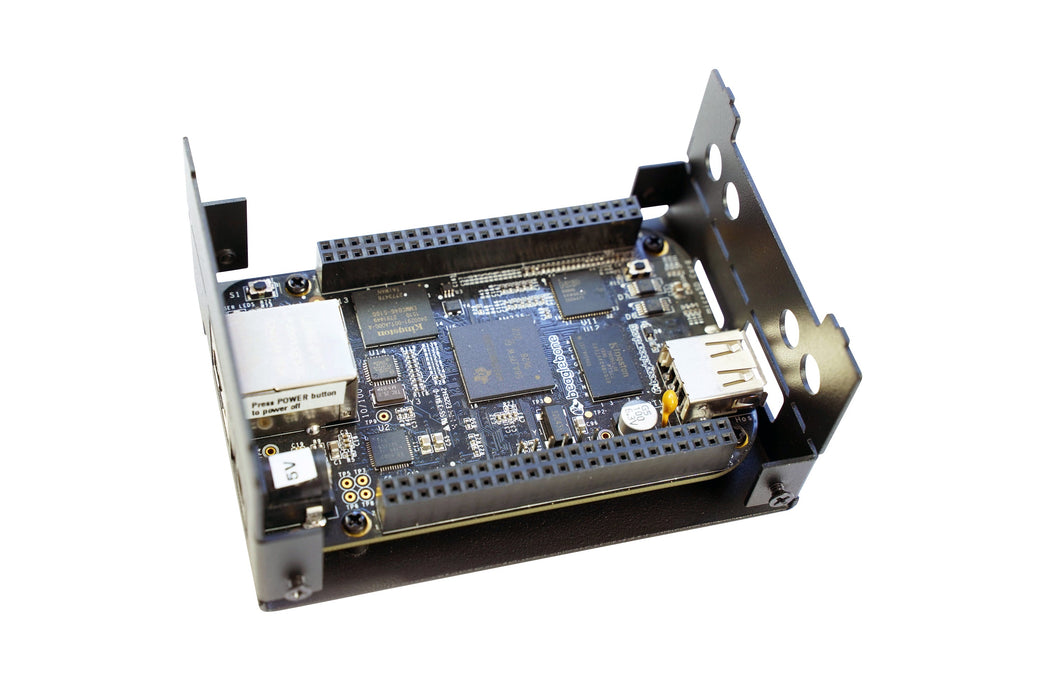 KKSB Steel Case for BeagleBone Black and BeagleBone AI Compatible with Most CAPES