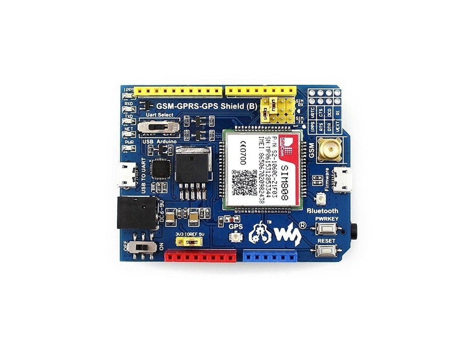 SIM808 GSM/GPRS/GPS Arduino Shield for Europe