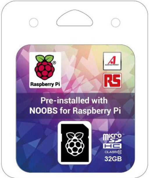 Raspberry Pi 32GB Micro SD Card with Preloaded NOOBS and SD Card Adapter
