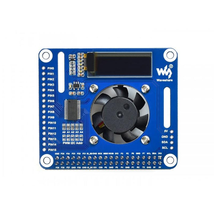 PWM Controlled Fan HAT for Raspberry Pi I2C Temperature Monitor