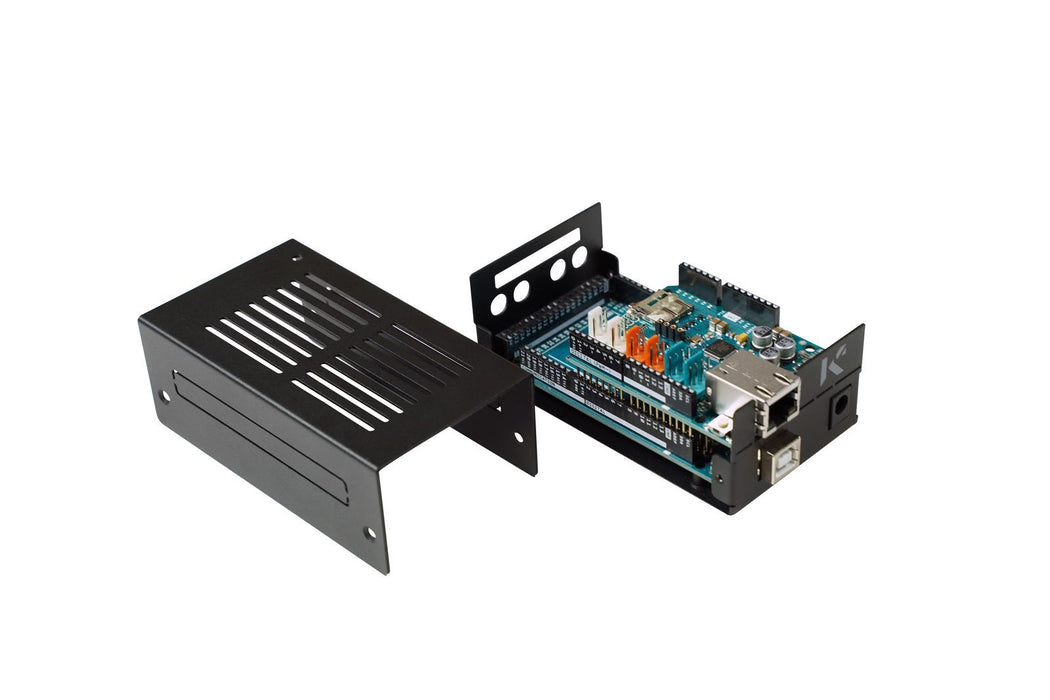 KKSB Steel Case for Arduino Mega, UNO, and Ethernet Shield with DIN Rail Clip