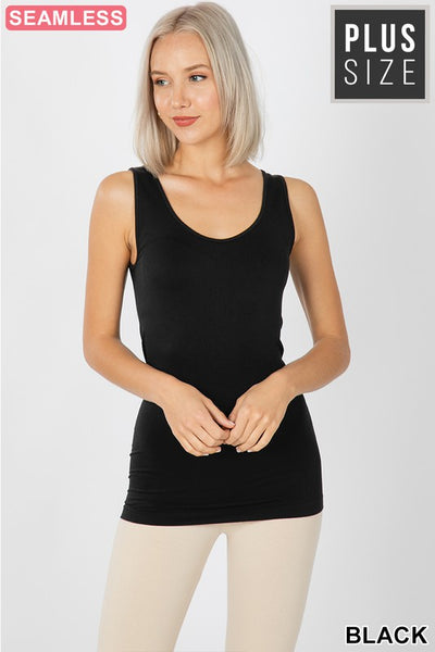 Plus Size Scoop Neck Tank