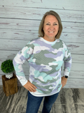 Watercolor Camo Sweatshirt