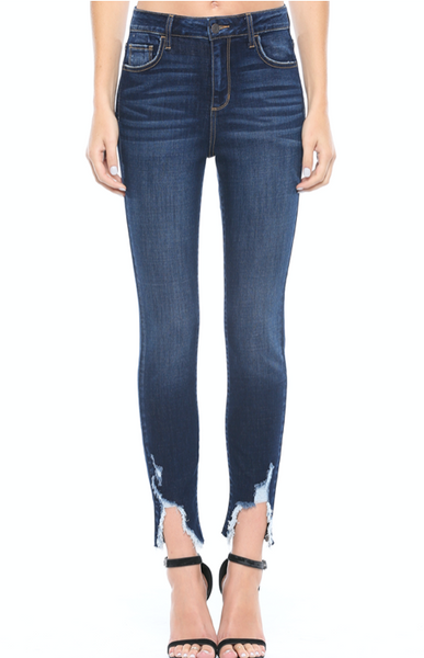 Cello Distress Hem Skinny Jeans