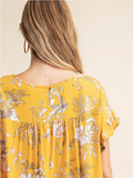 Floral Drop Shoulder Top