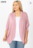 Plus Size Cocoon Cardigan