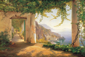 Carl Frederic Aagaard - View to the Amalfi coast