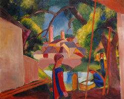 August Macke - Kinder am Brunnen