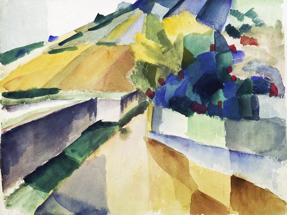 August Macke - Weinberge am Murtensee