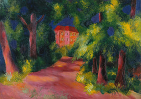 August Macke - Rotes Haus am Park
