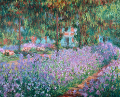 Claude Monet - Blühende Iris in Monets Garten