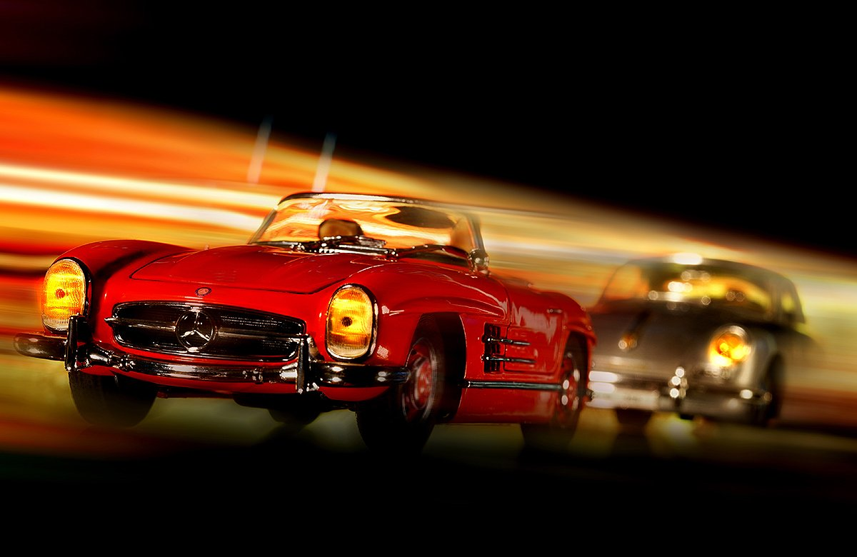 Jean-Loup Debionne - Cars in action - M.Benz 300SL