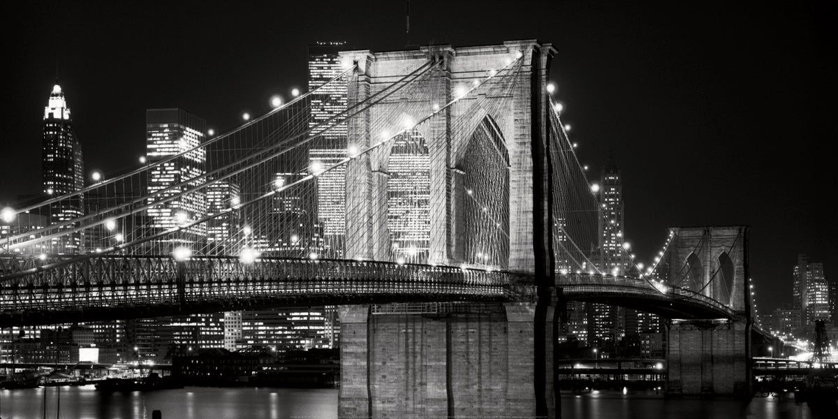Alan Blaustein - Brooklyn Bridge at Night