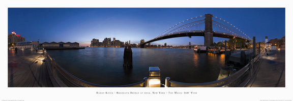 Randy Kosek - Brooklyn Bridge at dusk