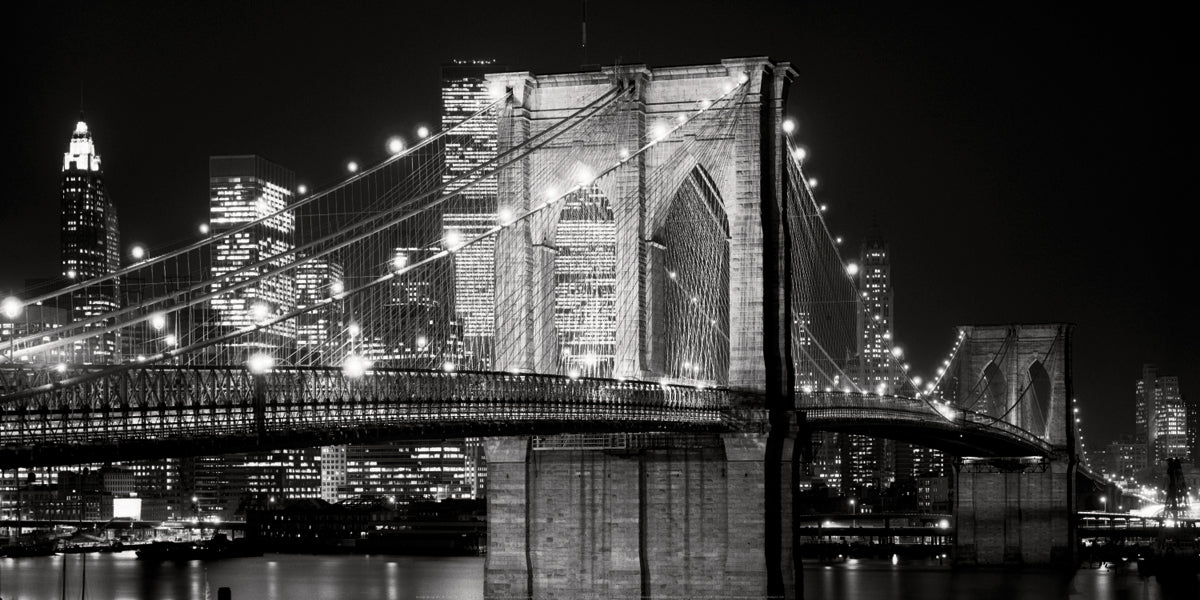 Jet Love - Brooklyn Bridge at Night, 1982