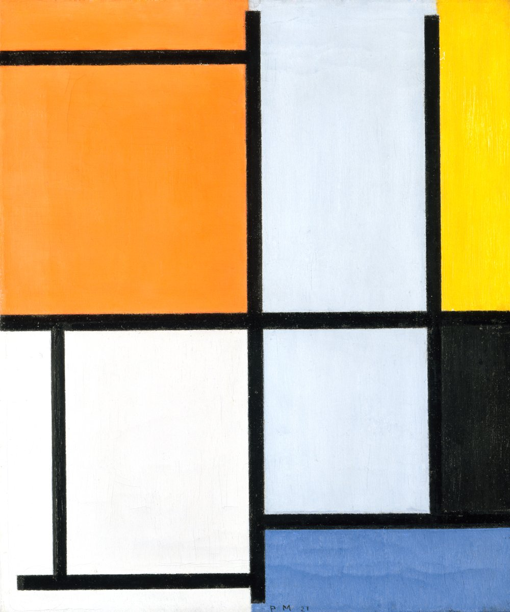 Piet Mondrian - Komposition 1921