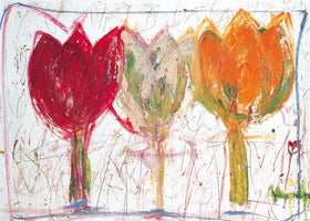 Ursula Meyer-Petersen - 3 Tulips