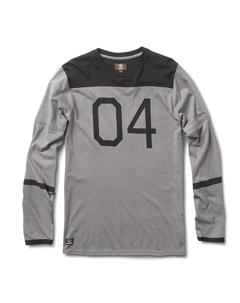 04 Football Long Sleeve :: Gunmetal Heather