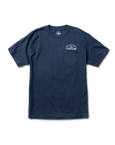 ARCHED PKT TEE :: NAVY