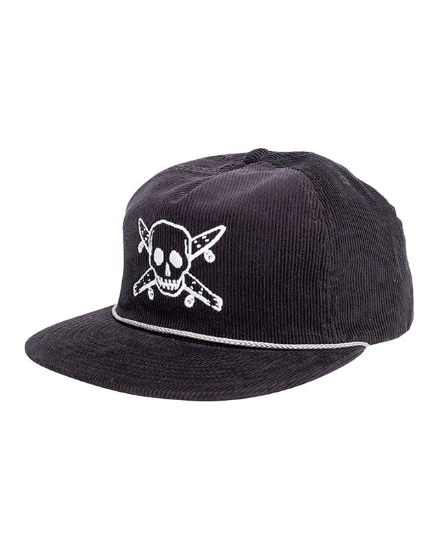 PIRATE CORD HAT :: BLACK