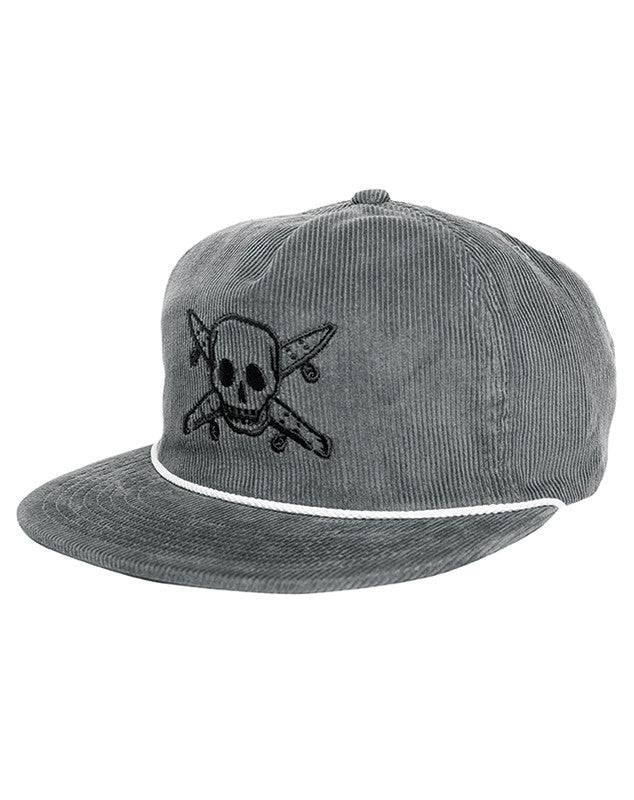 PIRATE CORD HAT :: GREY