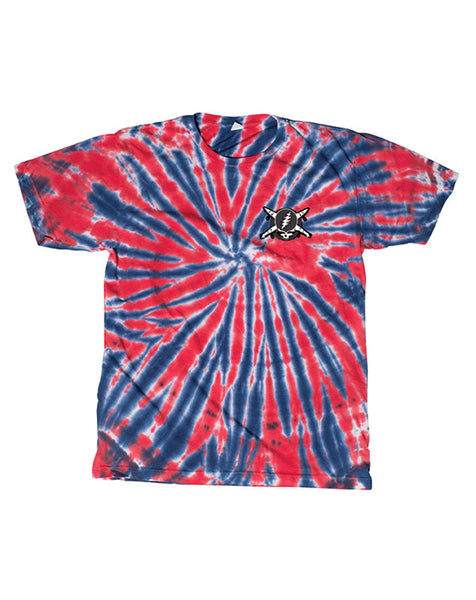 JERRY WASHED TEE :: BLUE/RED