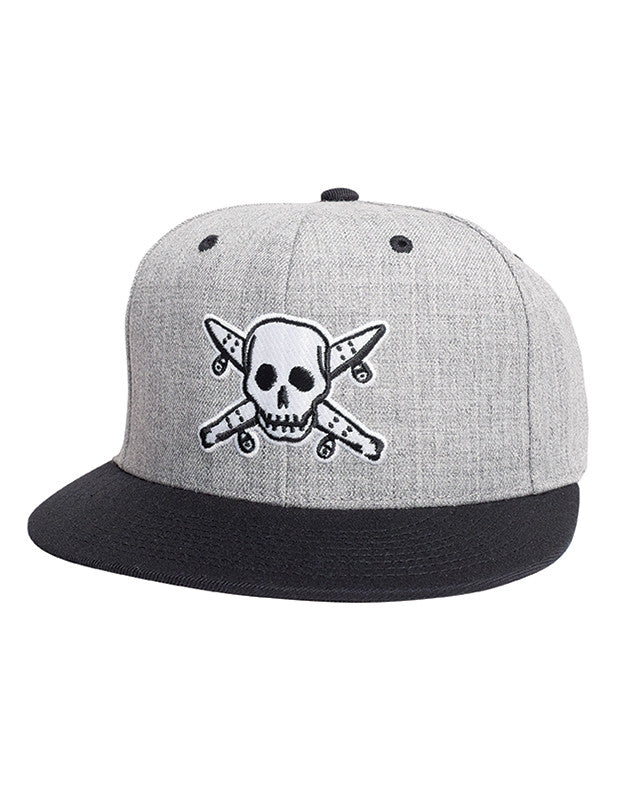 STREET PIRATE SNAPBAC :: GREY HEATHER