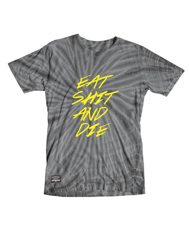 Eat Shit Tie Dye T-Shirt :: Charcoal