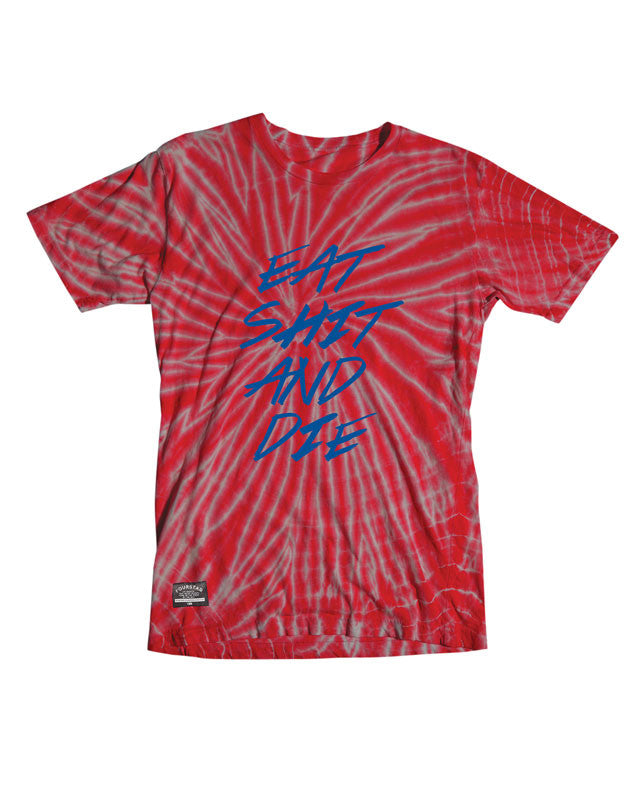Eat Shit Tie Dye T-Shirt :: Red