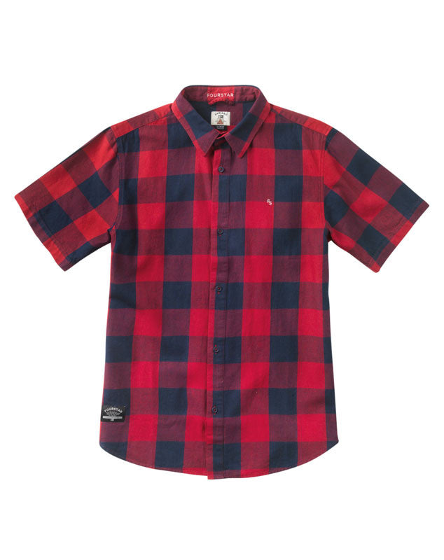 Ishod Buffalo Short Sleeve :: Cardinal