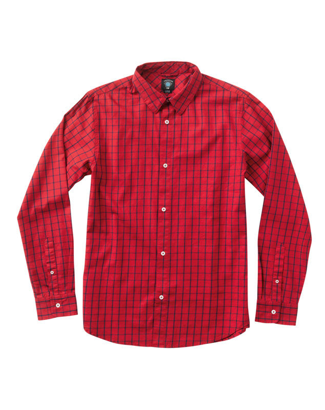 Dekker Long Sleeve :: Washed Red
