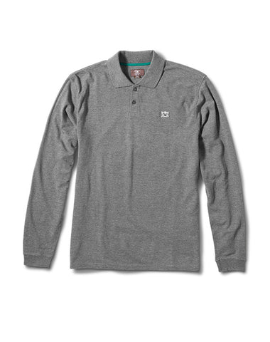Pirate Long Sleeve Polo :: Grey Heather