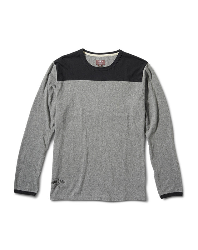 Gridiron Long Sleeve :: Grey Heather