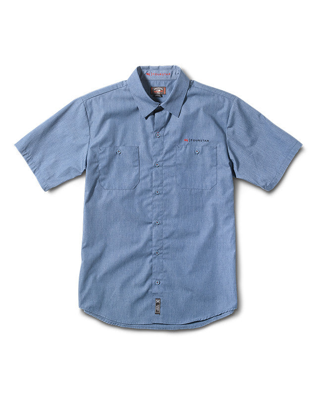 Max Workshirt Short Sleeve :: Pale Blue