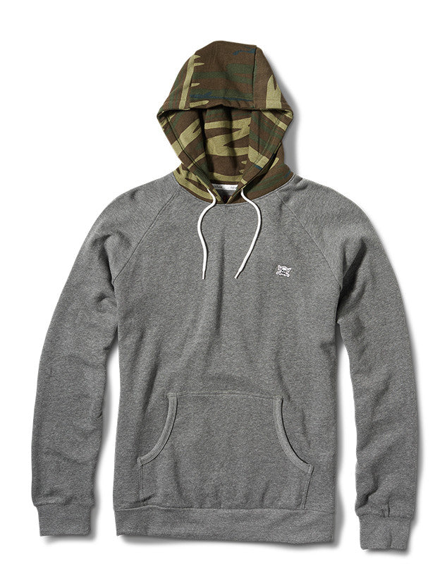 Collective Contrast Hood :: Grey Heather