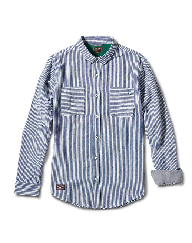 Collective Oxford Long Sleeve :: Navy Pinstripe