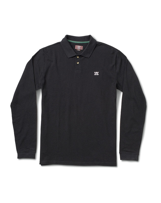 PIRATE POLO L/S :: BLACK