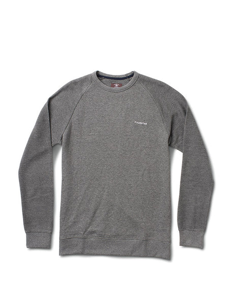 REVERSE RAGLAN CREW :: GREY HEATHER