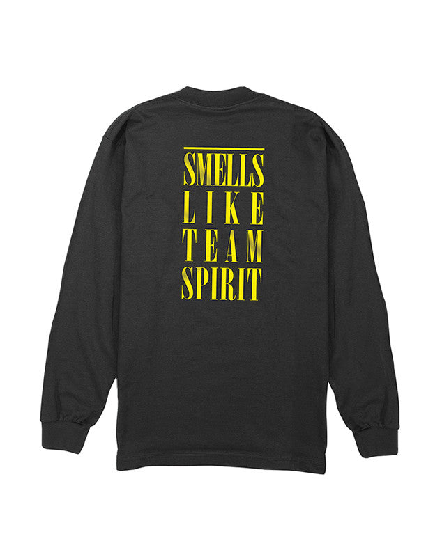 Team Spirit Long Sleeve T-Shirt :: Black