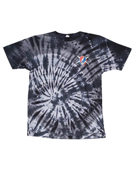 Jerry Pirate Tie Dye T-Shirt :: Charcoal