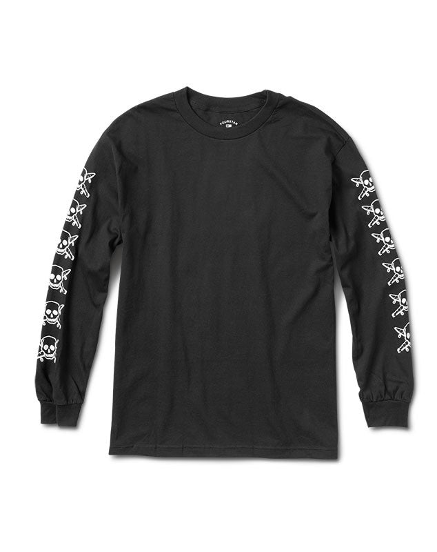 Pirate Sleeve Long Sleeve T-Shirt :: Black