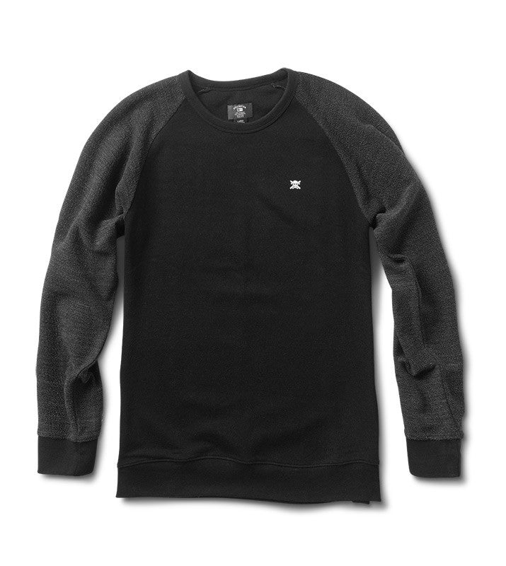 Mini Flock Raglan :: Black