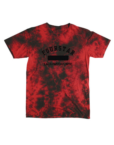 Phys Ed Lightening Wash T-Shirt :: Red