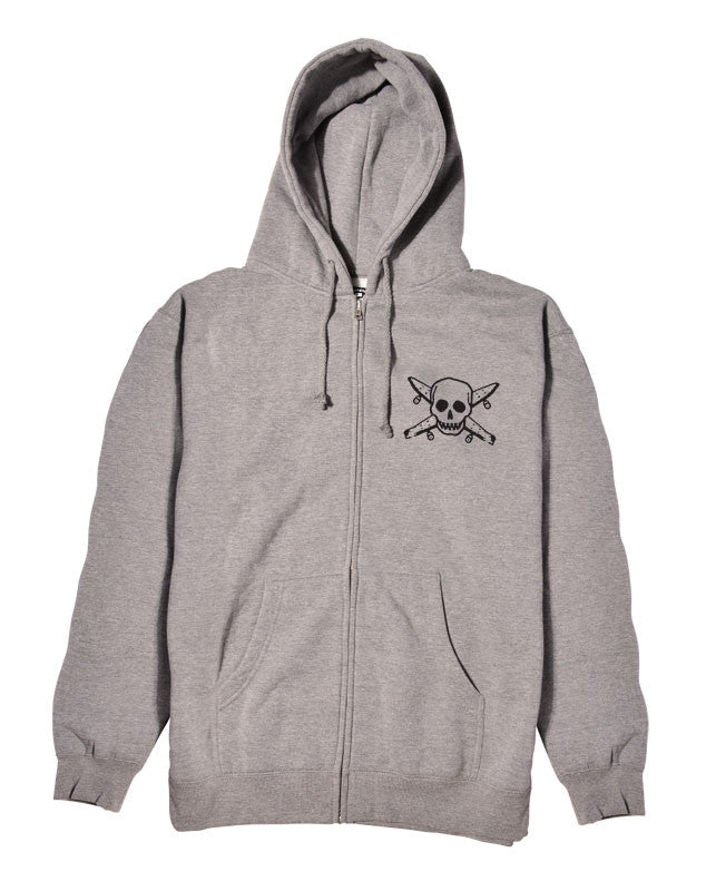 Pirate Zip :: Grey Heather