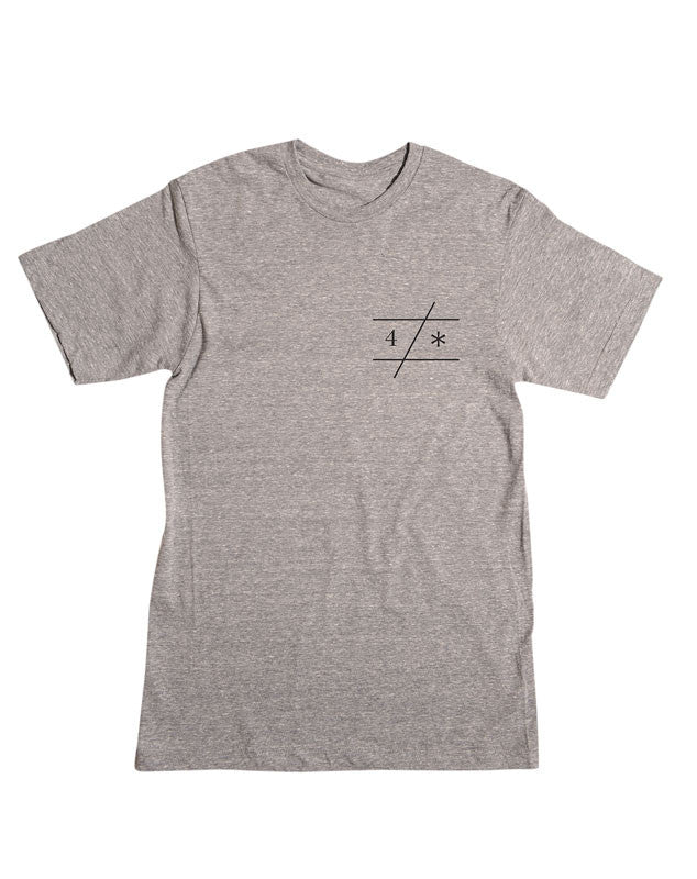 Slant Bar Triblend T-Shirt :: Grey Heather