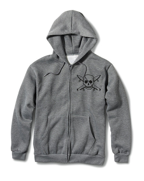 STREET PIRATE ZIP :: ATHLETIC HEATHER GREY