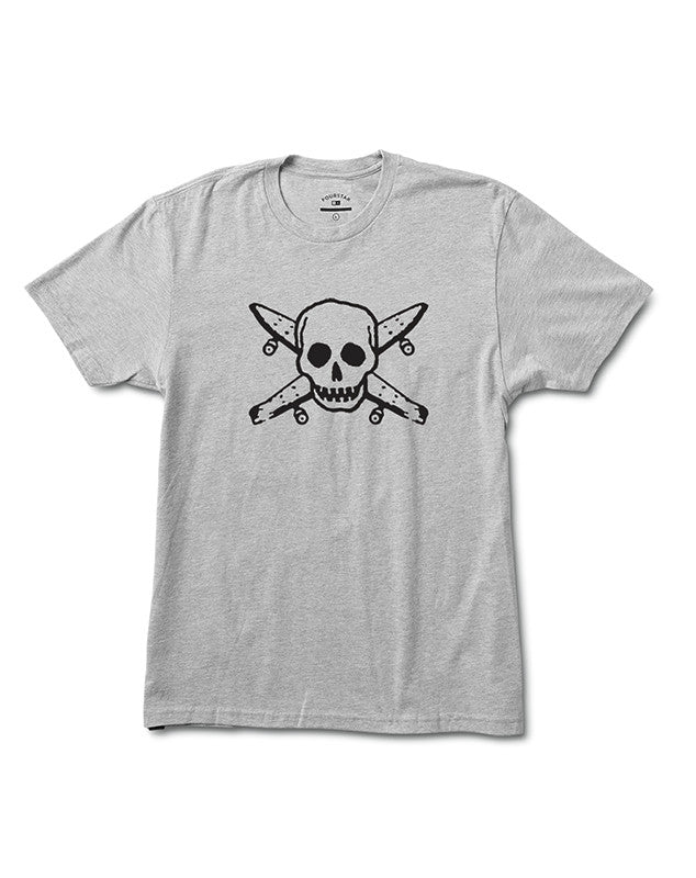 STREET PIRATE TEE :: ATHLETIC HEATHER GREY