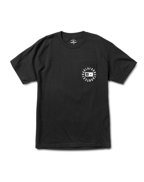 Circle Bar Pocket T-Shirt :: Black