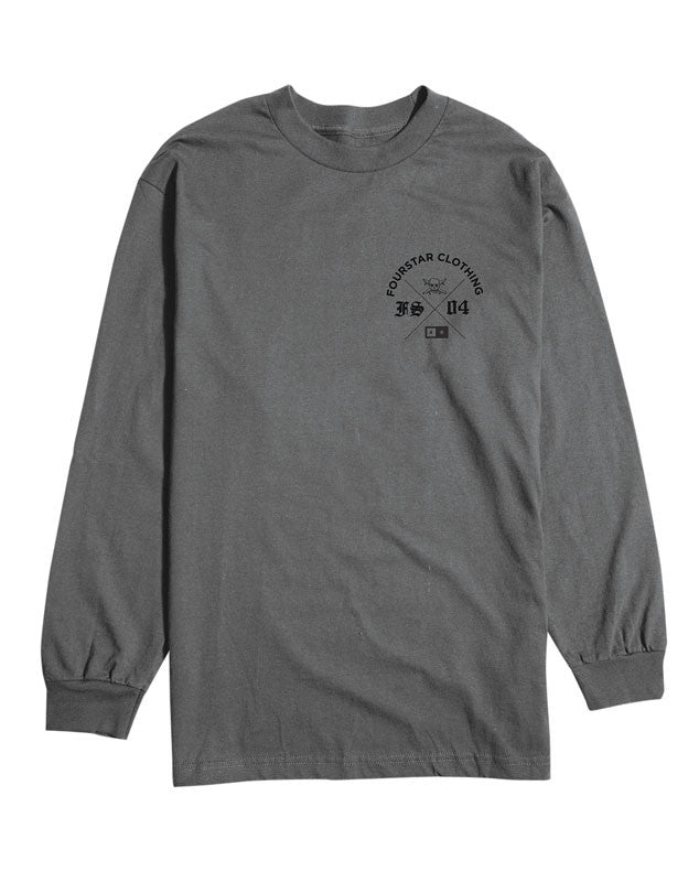 X Up Long Sleeve Tee :: Charcoal