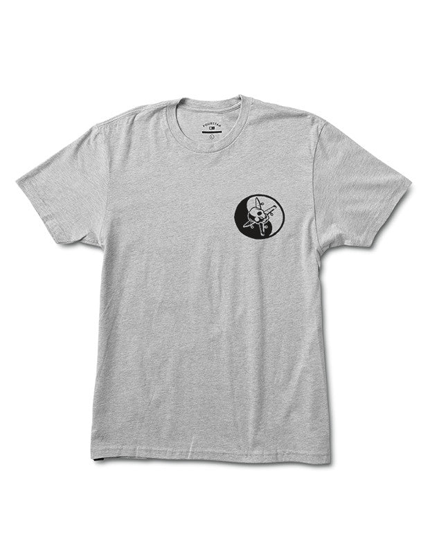 KUNG FU TEE :: ATHLETIC HEATHER GREY